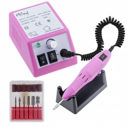 Pila electrica, freza unghii, Miley, roz, 14.000 rpm, 12 W